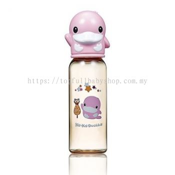 KUKU DUCKBILL PPSU Standard Feeding Bottle PINK 240ml (KU5860)