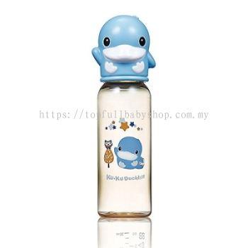 KUKU DUCKBILL PPSU Standard Feeding Bottle BLUE 240ml (KU5860)