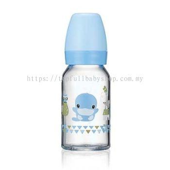 KUKU DUCKBILL Borosilicate Glass Standard Feeding Bottle BLUE 120ml (KU5862)