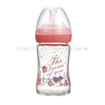 KUKU DUCKBILL The Dream of You Glass Wide-Neck Feeding Bottle PINK 150ml (KU5869)