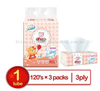 HEARTTEX BABY LIKE SOFT PACK FACIAL TISSUE