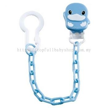 KUKU DUCKBILL PACIFIER CHAIN BLUE (KU5405)