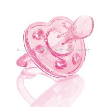 KUKU DUCKBILL Macaron Orthodontic Silicone Baby Pacifier 0-6 month PINK (KU5516)