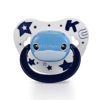 KUKU DUCKBILL Thumb Shape Orthodontic Pacifier 0-6 month BLUE (KU5512)