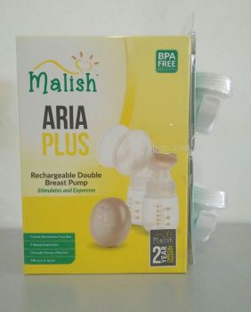 MALISH - RECHARGEABLE DOUBLE BREAST PUMP (2 YRS WARRANTY)