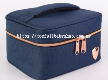 PRINCETON SINGLE LYR COOLER BAG- NAVY BLUE WITH  ROSE GOLD