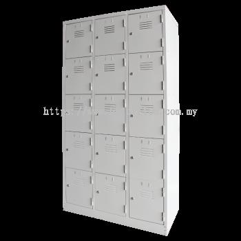 15 Compartment Steel Locker