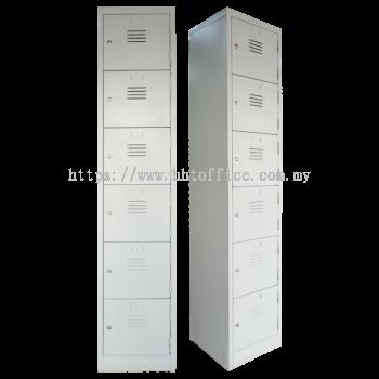 6S Compartments Steel Locker