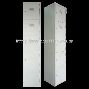 5 Compartments Steel Locker