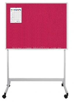 Aluminium Frame Fabric Board with Mobile Stand