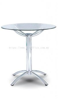 P4-T75 Round Glass Discussion Table