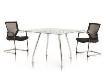 IXIA - Square Glass Discussion Table