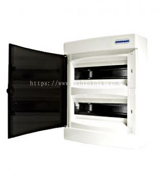 Wall-mounting PVC 2-row Enclosure, 24MW, transparent door
