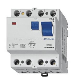 Residual Current Circuit Breaker Type AC, 100A