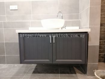 Matte Dark Grey with Quartz Stone Table Top