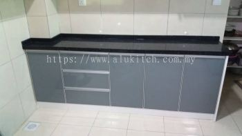 Framed Dark Grey with Quartz Stone Table Top