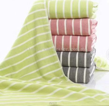 Stripe Gauze Bath Towel