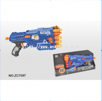 LOCAL SELLER READY STOCK BLAZE STORM BLASTER 10PCS BULLET ZC7097 TOY GUN MAINAN