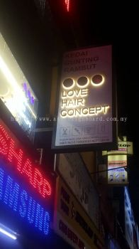 Puchong - We supply and provide metal structure frame and EG box up lettering and LED back light