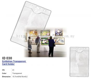 ID 030 Exhibition Transparent Card Holder
