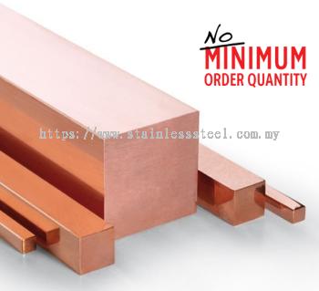 Copper Square Bar | Grade:  C1100 (JIS H3140-1/2H) | K. Seng Seng Industries Sdn Bhd