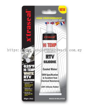 X'TRASEAL 625°F WHITE RTV SILICONE GASKET MAKER