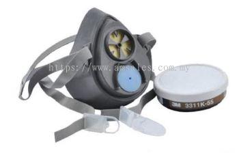 3M 3200 Half Facepiece Respirator & 3311K-55 Cartridge (OHRESMM1100022+OHRESMM1100019)