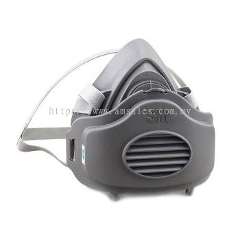 3M 3200 Half Facepiece Single Cartridge Respirator + 3M 3700 Filter Holder + 3M 3744 Particulate
