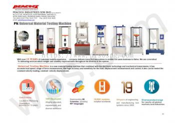 Tensile & Compression Tester - Peacock Industries Sdn Bhd