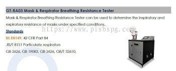 Masks , PPE  Testing Equipments  - Breathing Resistance