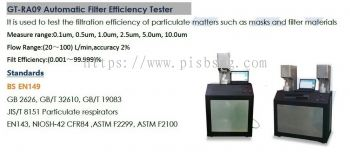 Masks , PPE  Testing Equipments  - Penetration of Filter Material