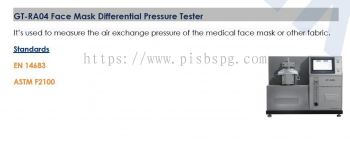 Masks , PPE  Testing Equipments  - Differential Pressure