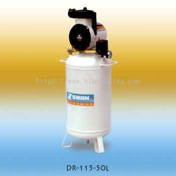 Swan Oil Less Air Compressor 1.5HP 7Bar 77L/min 37kg DR-115-50L