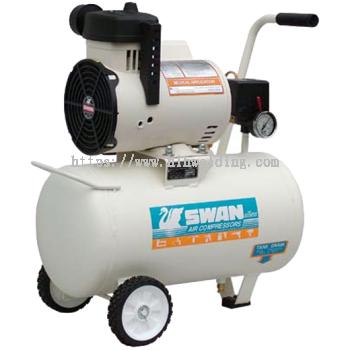 Swan Oil Less Air Compressor 1.5HP 7Bar 77L/min 22kg DR-115-22L
