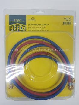REFCO CCL-72 (R/Y/B) 6' CHARGING HOSE