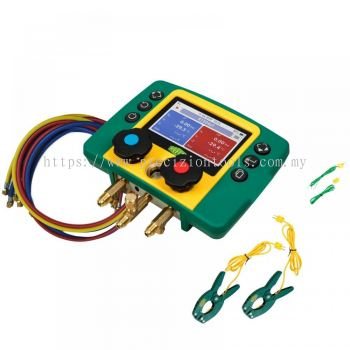 REFCO REFMATE 2 Digital Manifold with Charging Hose + Temperature Clamp