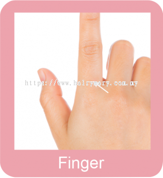 Permanent hair removal finger