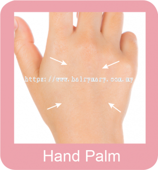 Permanent hair removal hand