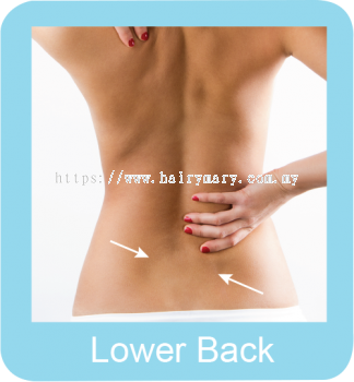 Permanent hair removal lower back