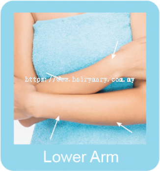 Permanent hair removal lower arm