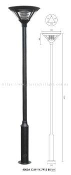 YX 7913 3 METER LAMP POLE BLACK