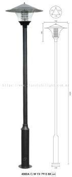 YX 7915 3 METER LAMP POLE BLACK