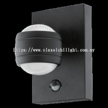 Eglo 96021 OD-LED-WL/1 W.SENSOR BLACK ''SESIMBA 1''