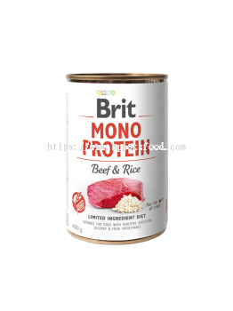 BRIT MONO PROTEIN BEEF & RICE CAN Dog Food 400g