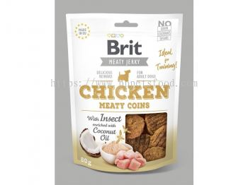 Brit Meaty Jerky Chicken Meaty Coins 80g