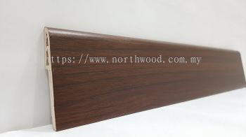 PVC Skirting 70mmH Mahogany