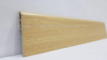 PVC Skirting 70mmH Maple