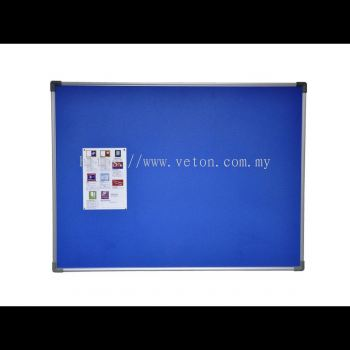 FOAM NOTICE BOARD WITH ALUMINIUM FRAME