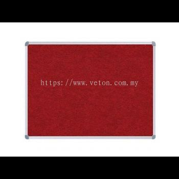 VELCRO NOTICE BOARD WITH ALUMINIUM FRAME