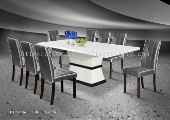 Thassos Marble Dining Table Set  (1+8)